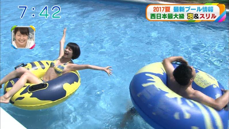 【水着キャプ画像】水着タレントの稼ぎ時!テレビにエロい水着着た美女達が映りまくってるぞw 16