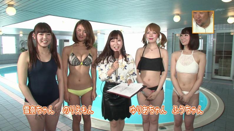 【お宝キャプ画像】バコバコプール開きとか言うコーナーで美女達が水着姿で色々やらされてるぞw 04