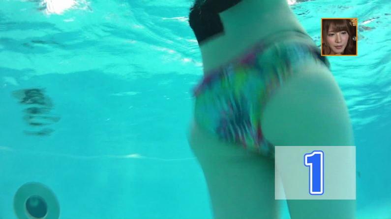 【お宝キャプ画像】バコバコプール開きとか言うコーナーで美女達が水着姿で色々やらされてるぞw 36