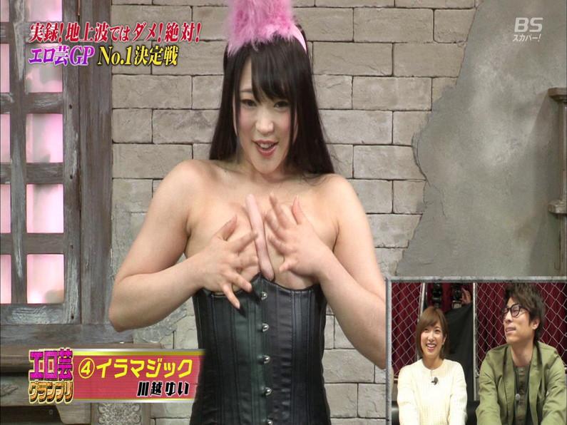 【お宝エロ画像】エロ芸グランプリとか言う企画でアキラ100%より凄い美女が現るwwwwww 39