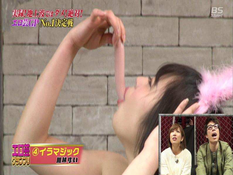 【お宝エロ画像】エロ芸グランプリとか言う企画でアキラ100%より凄い美女が現るwwwwww 45