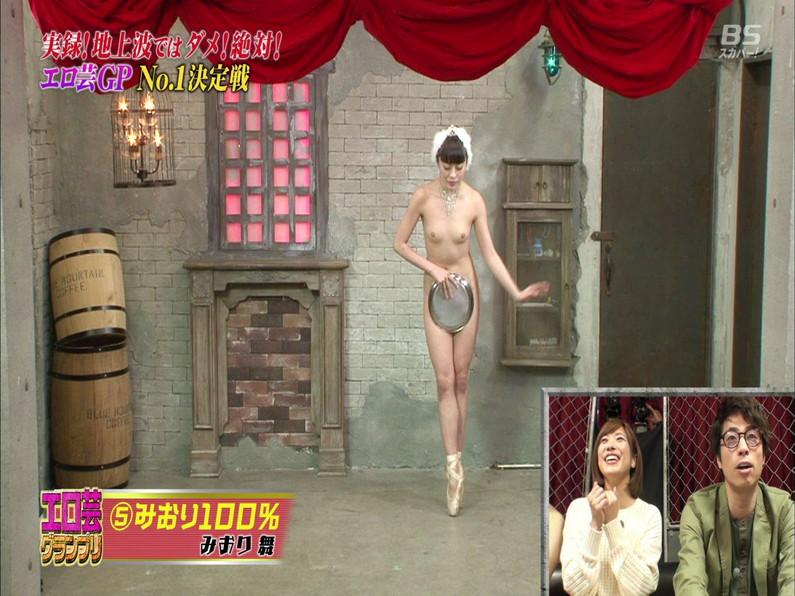 【お宝エロ画像】エロ芸グランプリとか言う企画でアキラ100%より凄い美女が現るwwwwww 49
