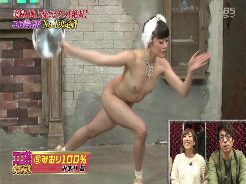 【お宝エロ画像】エロ芸グランプリとか言う企画でアキラ100%より凄い美女が現るwwwwww 53