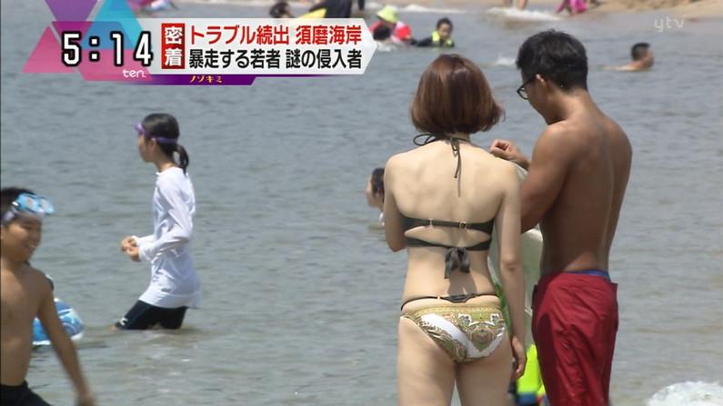 【お尻キャプ画像】水着が食い込み過ぎたエロいハミ尻のタレント達がテレビに映りまくりw 10