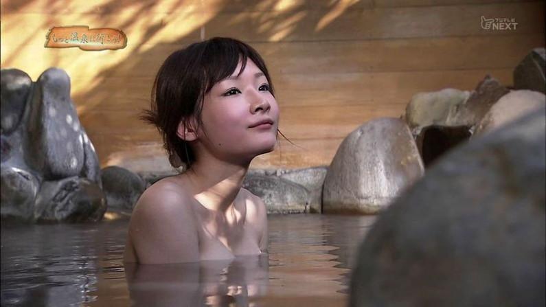 【温泉キャプ画像】皆さん温泉レポする時ハミ乳させるのがルールなんですか?ww 10
