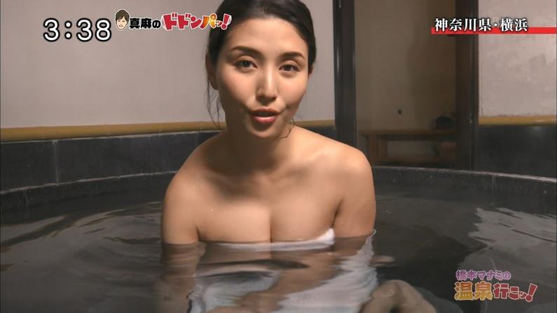 【温泉キャプ画像】皆さん温泉レポする時ハミ乳させるのがルールなんですか?ww 20