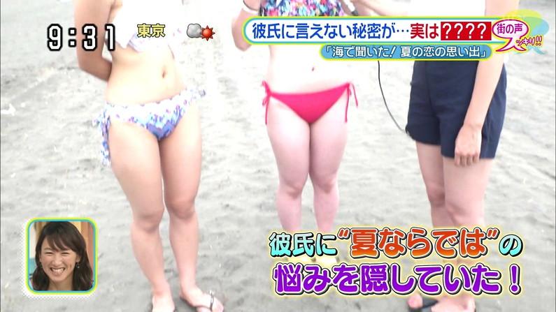 【へそ出しキャプ画像】テレビで自慢のくびれボディーを披露する美女達w 05