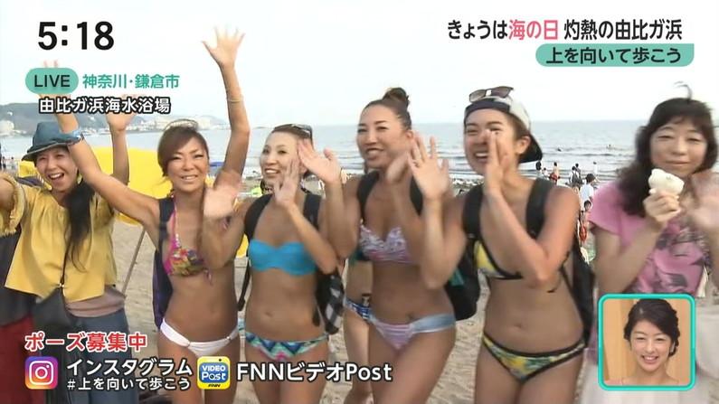 【水着キャプ画像】今年もエロい水着着た素人美女が映りまくりww 04