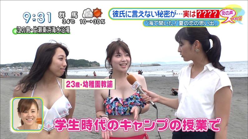 【水着キャプ画像】今年もエロい水着着た素人美女が映りまくりww 14