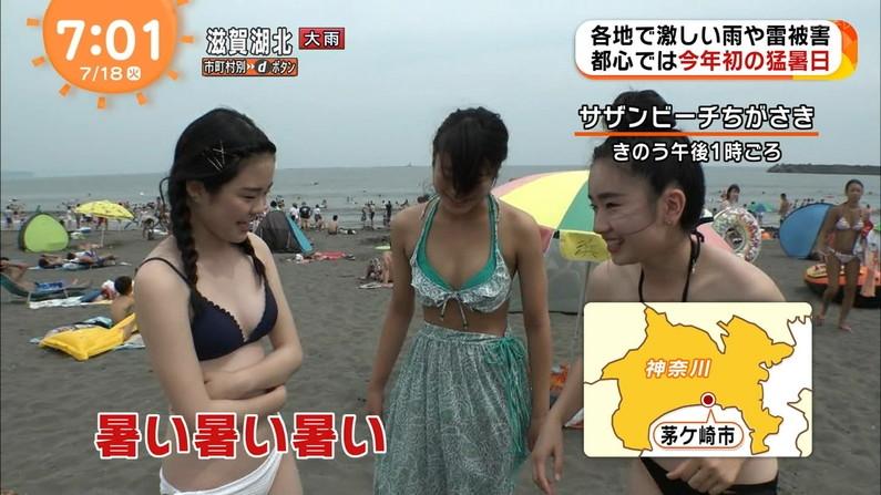 【水着キャプ画像】今年もエロい水着着た素人美女が映りまくりww 16