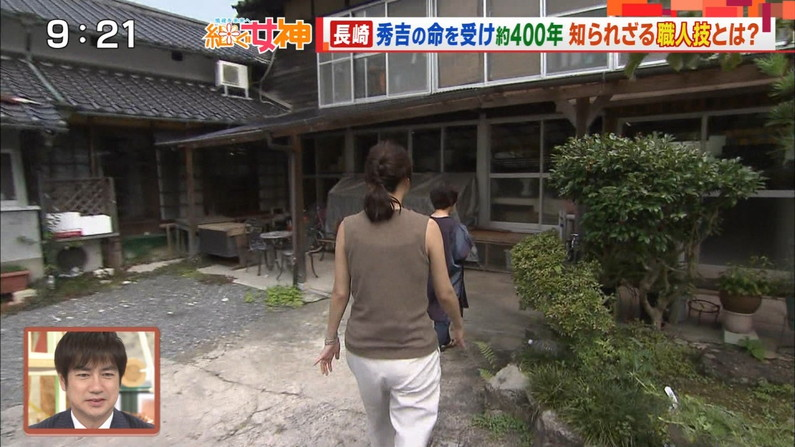 【お尻キャプ画像】テレビでタレント達がパンツラインまで見えちゃうピタパン履いてるぞw 07