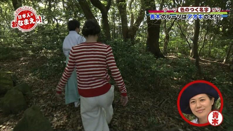 【お尻キャプ画像】テレビでタレント達がパンツラインまで見えちゃうピタパン履いてるぞw 10