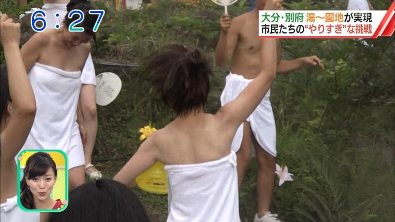 【温泉キャプ画像】ここまでオッパイ見えてたらやっぱりポロリ期待する温泉レポw 05