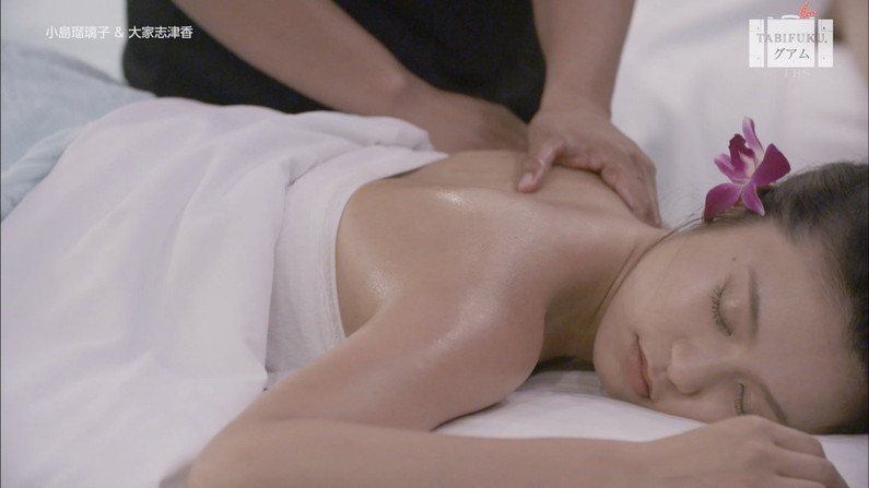 【エステキャプ画像】美女達のはみ出した生乳見放題のエステキャプ画像ww 09