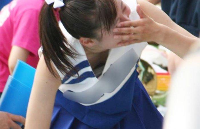【甲子園キャプ画像】甲子園に映るエロ可愛いJKのチアガールたちw