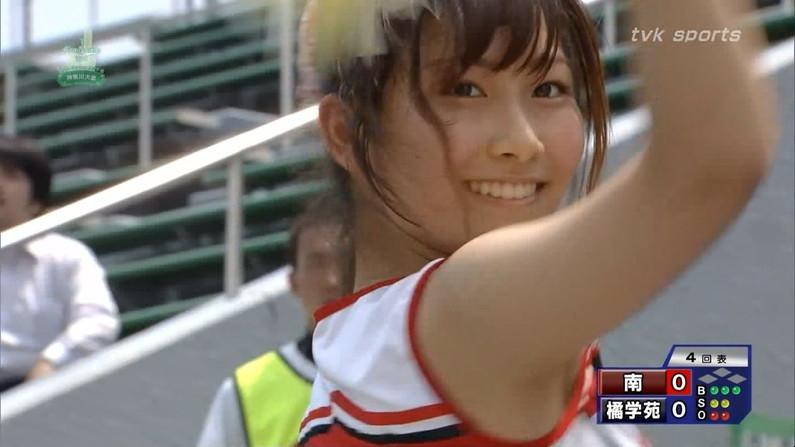【甲子園キャプ画像】甲子園に映るエロ可愛いJKのチアガールたちw 14