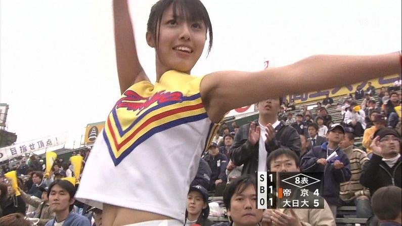 【甲子園キャプ画像】甲子園に映るエロ可愛いJKのチアガールたちw 17