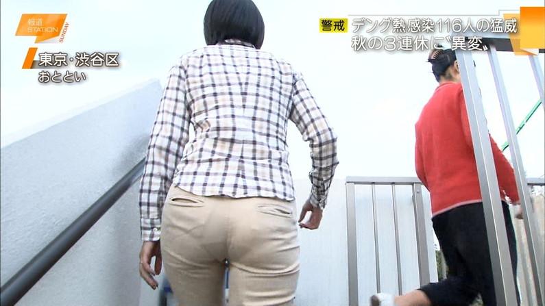 【お尻キャプ画像】タレント達がピタパン履いてヒップライン強調し過ぎw 17