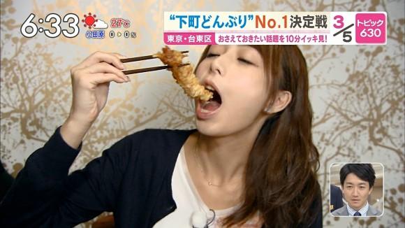 【疑似フェラキャプ画像】女性タレントが食レポしてる時ってどうしてこんなにエロい顔に見えるんだろうな?w 18