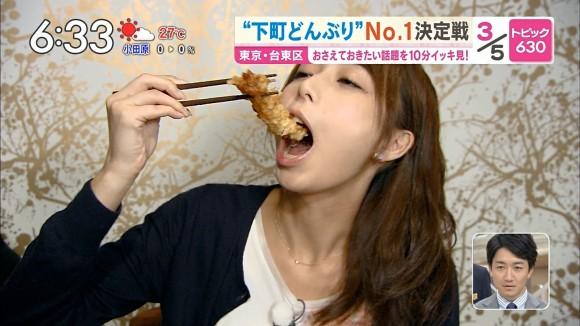 【疑似フェラキャプ画像】女性タレントが食レポしてる時ってどうしてこんなにエロい顔に見えるんだろうな?w 19