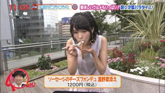 【疑似フェラキャプ画像】女性タレントが食レポしてる時ってどうしてこんなにエロい顔に見えるんだろうな?w 21