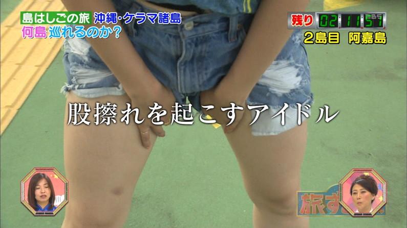【太ももキャプ画像】パンツ見せる勢いで太もも露出させてるタレント達w 19