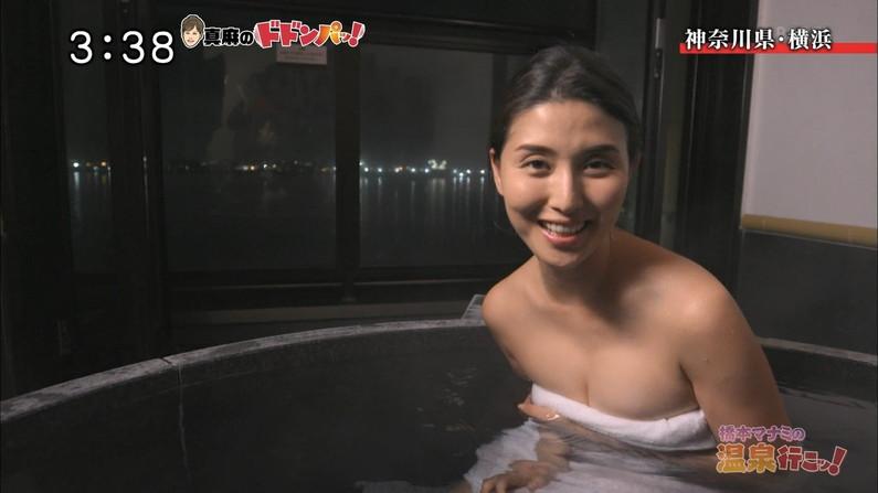 【温泉キャプ画像】温泉レポしてるタレント達のオッパイがやばいww 15