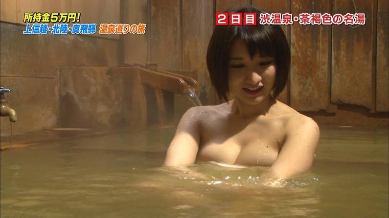 【温泉キャプ画像】温泉レポでこんなにオッパイ露出されたらオッパイしか見れなくなるよなw