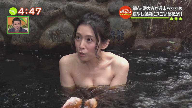 【温泉キャプ画像】温泉レポでこんなにオッパイ露出されたらオッパイしか見れなくなるよなw 07