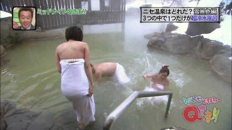 【温泉キャプ画像】温泉レポでこんなにオッパイ露出されたらオッパイしか見れなくなるよなw 19