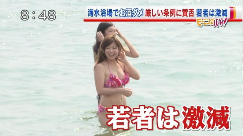 【水着キャプ画像】まだまだテレビにエロカワイイ素人ギャル達のビキニ姿が映りまくりww 17