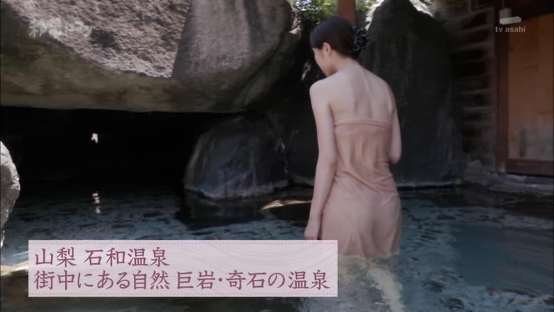 【温泉キャプ画像】美女のエロい入浴シーンが見れるから旅番組は見逃せないよなww 05