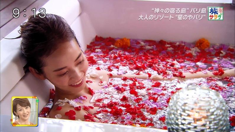 【温泉キャプ画像】美女のエロい入浴シーンが見れるから旅番組は見逃せないよなww 18