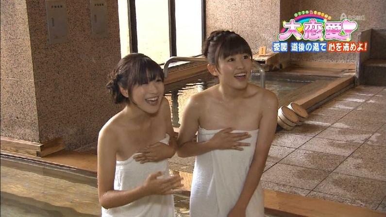 【温泉キャプ画像】美女のエロい入浴シーンが見れるから旅番組は見逃せないよなww 21