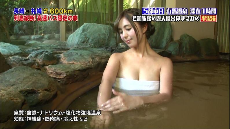 【温泉キャプ画像】美女のエロい入浴シーンが見れるから旅番組は見逃せないよなww 22