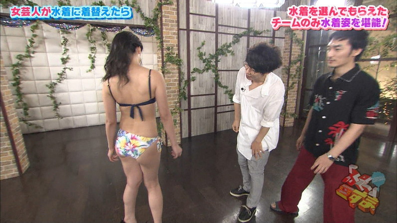 【お尻キャプ画像】テレビで美女の水着からお尻が思いっきりハミ尻してるんだけどww 13