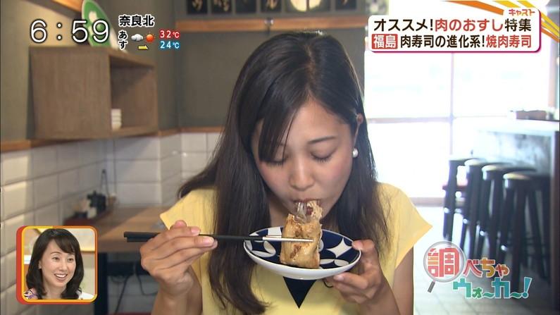 【疑似フェラキャプ画像】食レポするとどうしてもフェラ顔になっちゃうタレント達w 12