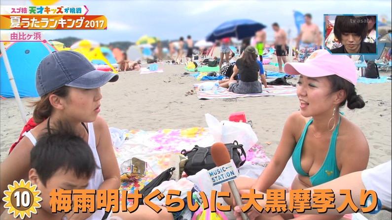 【水着キャプ画像】もぉそろそろ見納めのテレビに映った激エロ素人の水着姿w 14