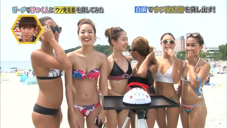 【水着キャプ画像】もぉそろそろ見納めのテレビに映った激エロ素人の水着姿w 21