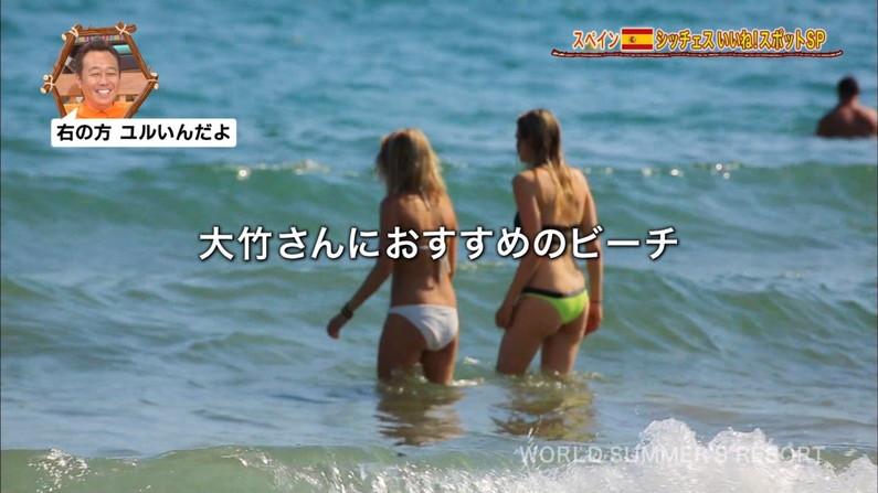 【お尻キャプ画像】水着姿のタレント達がハミ尻しまくりでエロすぎるw 05