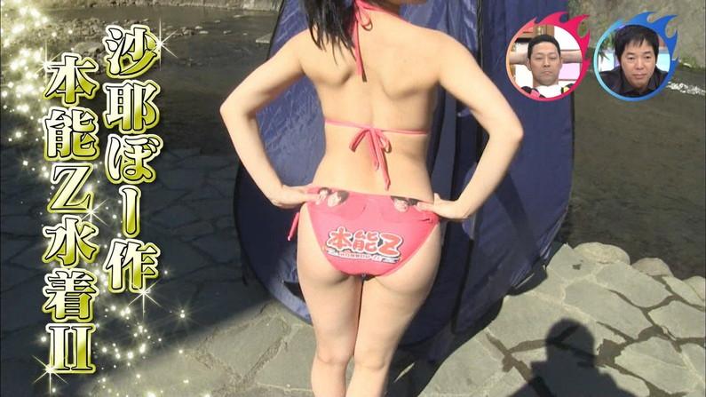 【お尻キャプ画像】水着姿のタレント達がハミ尻しまくりでエロすぎるw 19
