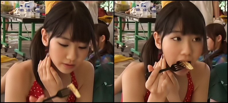 【疑似フェラキャプ画像】フェラの練習ですか?と言いたくなるほどエロい顔して食レポするタレント達w 10
