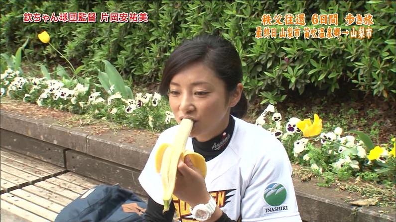 【疑似フェラキャプ画像】フェラの練習ですか?と言いたくなるほどエロい顔して食レポするタレント達w 16