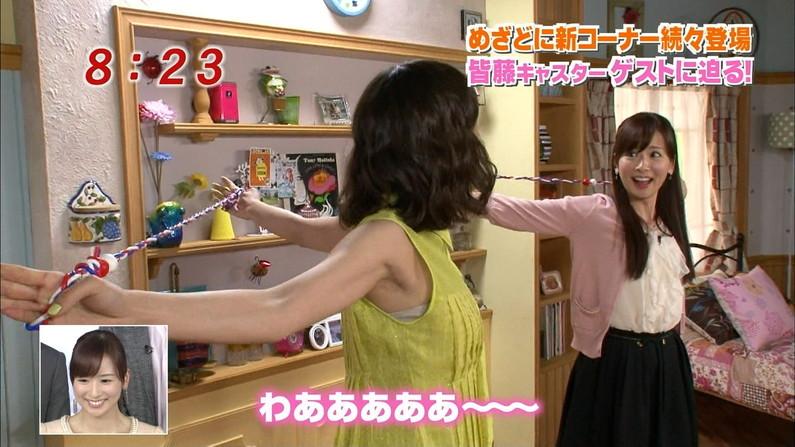 【脇キャプ画像】アイドルや女子アナの脇マンコがエロいww 10