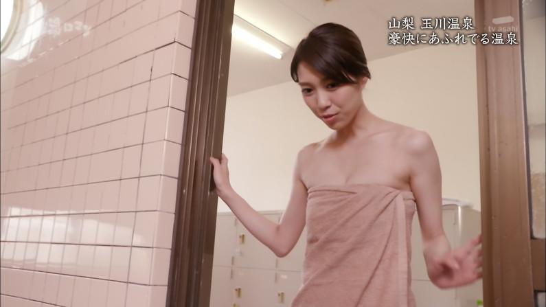 【温泉キャプ画像】テレビに映る美女達の入浴シーンがハミ乳し過ぎてエロww 04