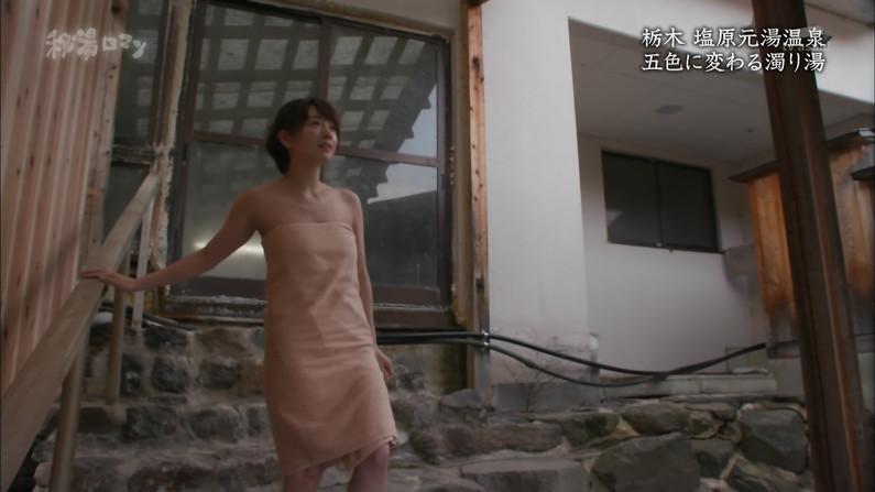【温泉キャプ画像】テレビに映る美女達の入浴シーンがハミ乳し過ぎてエロww 06