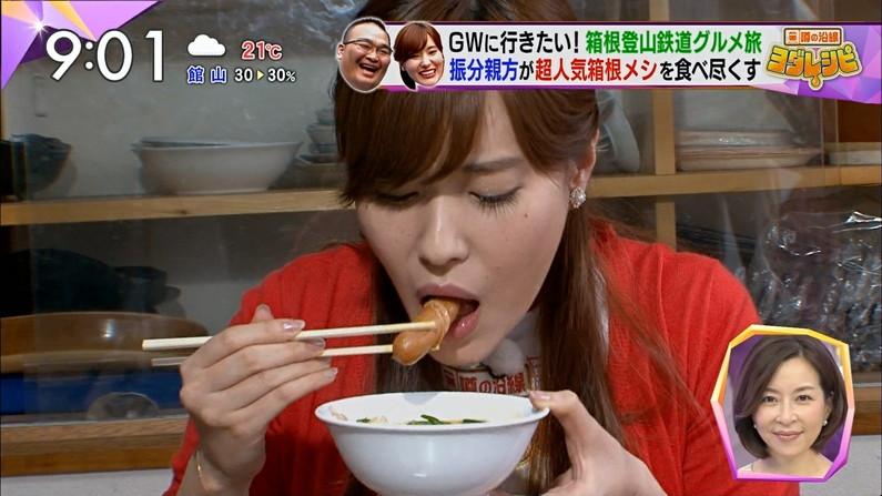 【疑似フェラキャプ画像】やっぱりエロ目線で見てしまう美人タレントの食レポww