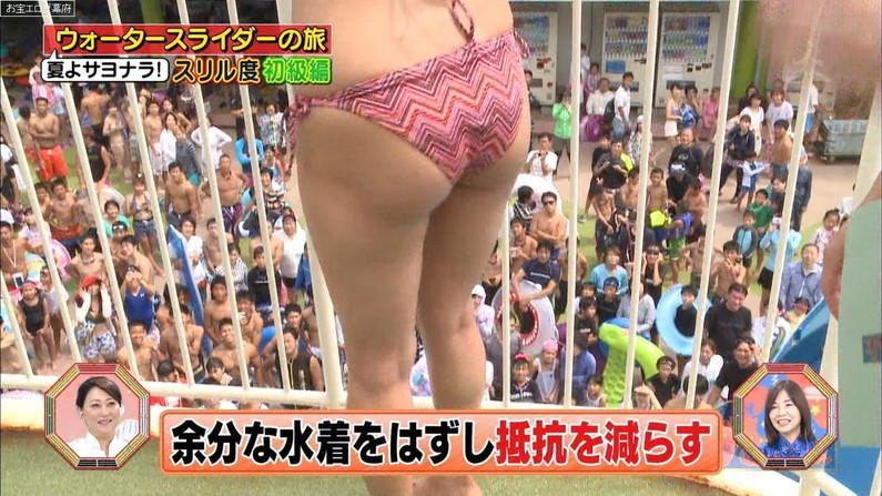 【お尻キャプ画像】テレビに映る水着美女達のハミ尻がエロすぎてヤバイww 12