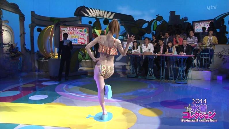 【お尻キャプ画像】テレビに映る水着美女達のハミ尻がエロすぎてヤバイww 13