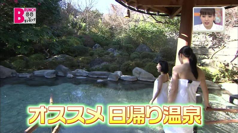 【温泉キャプ画像】こんな巨乳タレントと一緒に混浴したら絶対勃起する自信ありますw 01